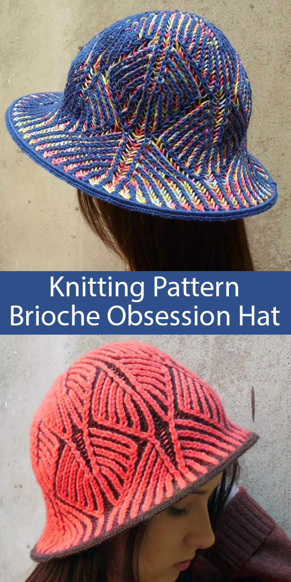 Knitting pattern for Obsession Brioche Hat