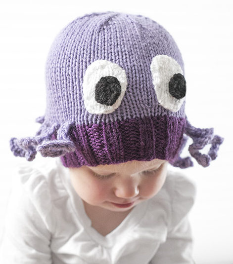 Free Knitting Pattern for Octopus Baby Hat