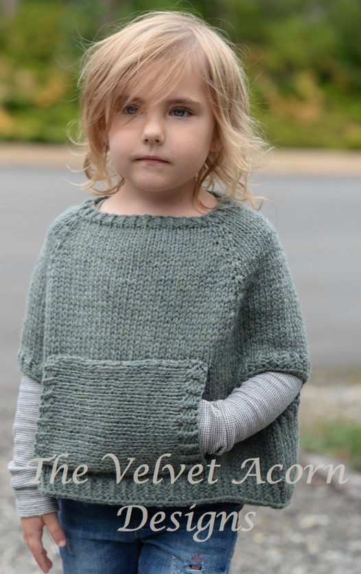 Knitting Pattern for Odia Poncho
