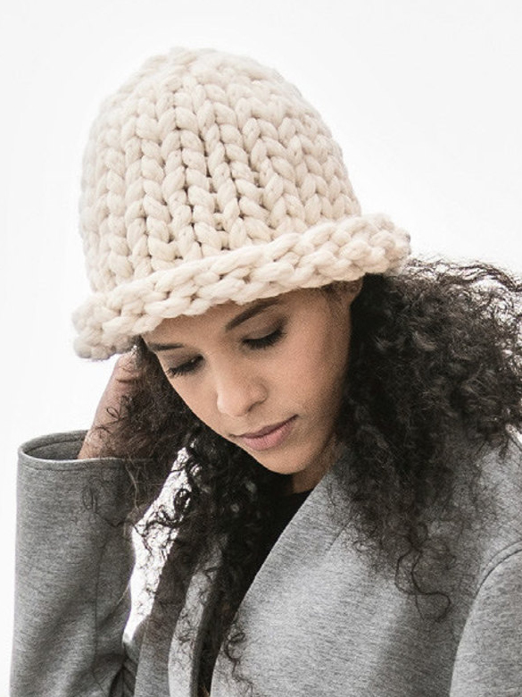 Free Knitting Pattern for Odin Jumbo Hat