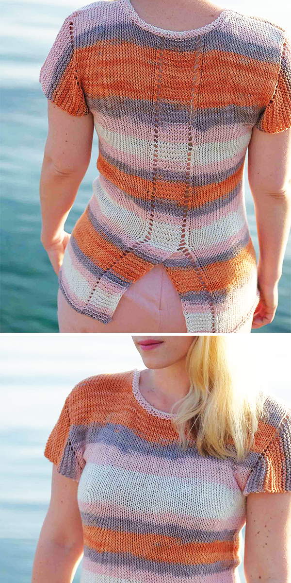 Free knitting pattern for Oh Pa Top