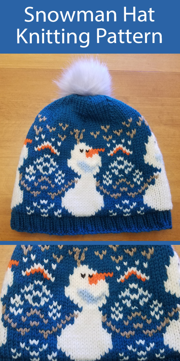 Free Olaf Hat Knitting Pattern Frozen Inspired Snowman Hat