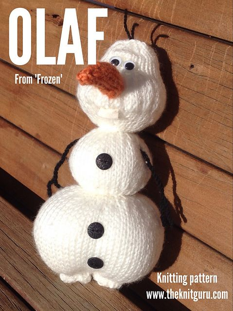 "Olaf from ""Frozen"" knitting pattern by Juanita McLellan 