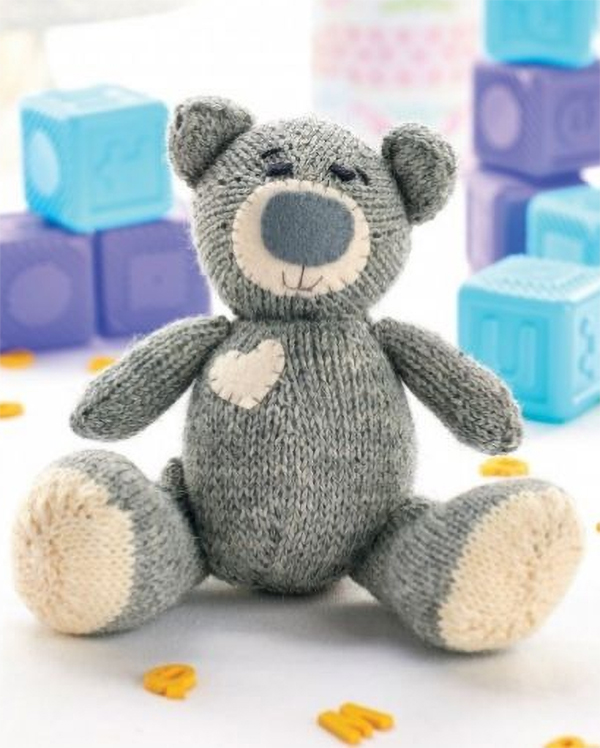 Knitting Pattern for Oliver Teddy Bear
