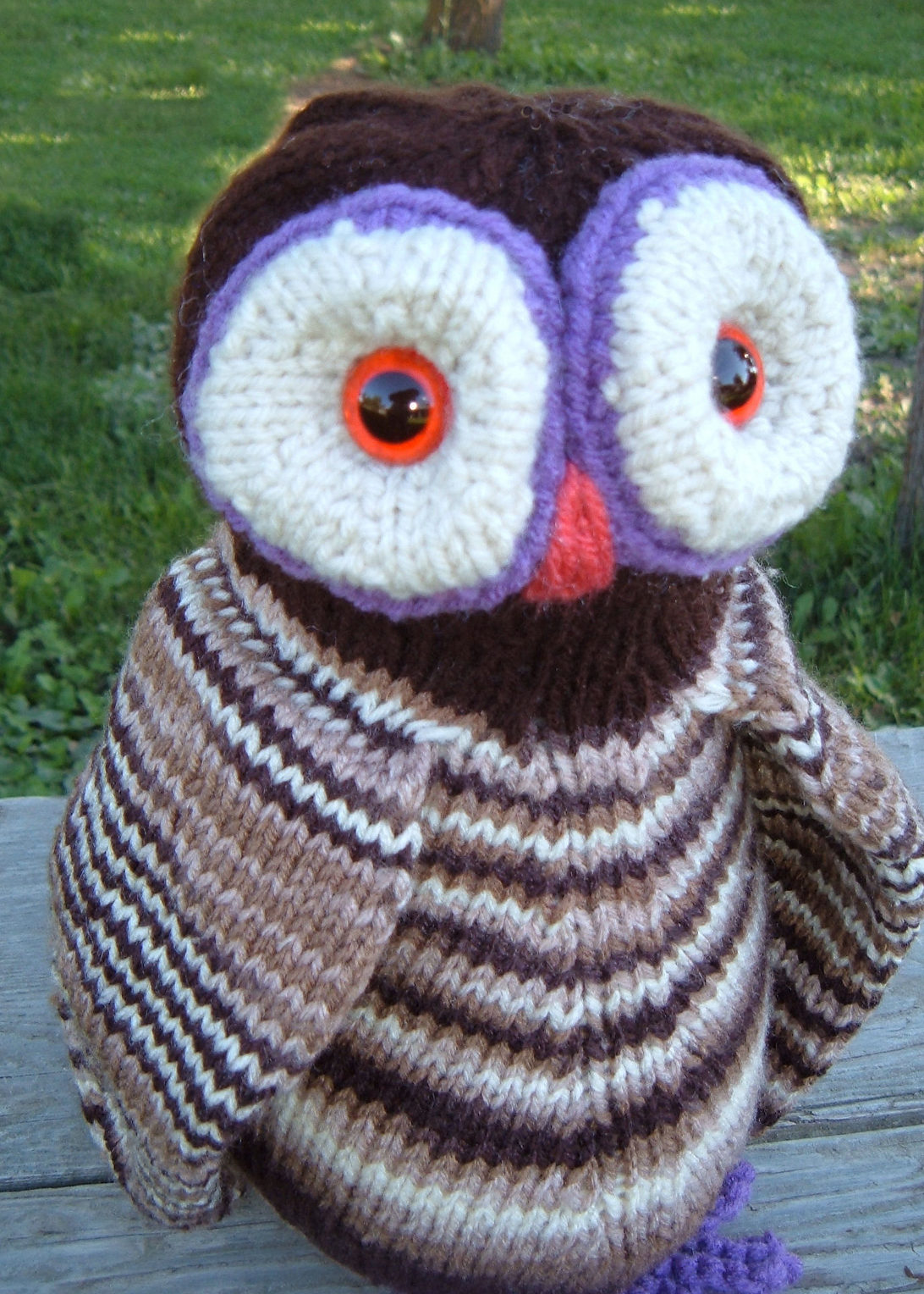 Free Knitting Pattern for Ollie O'Owl