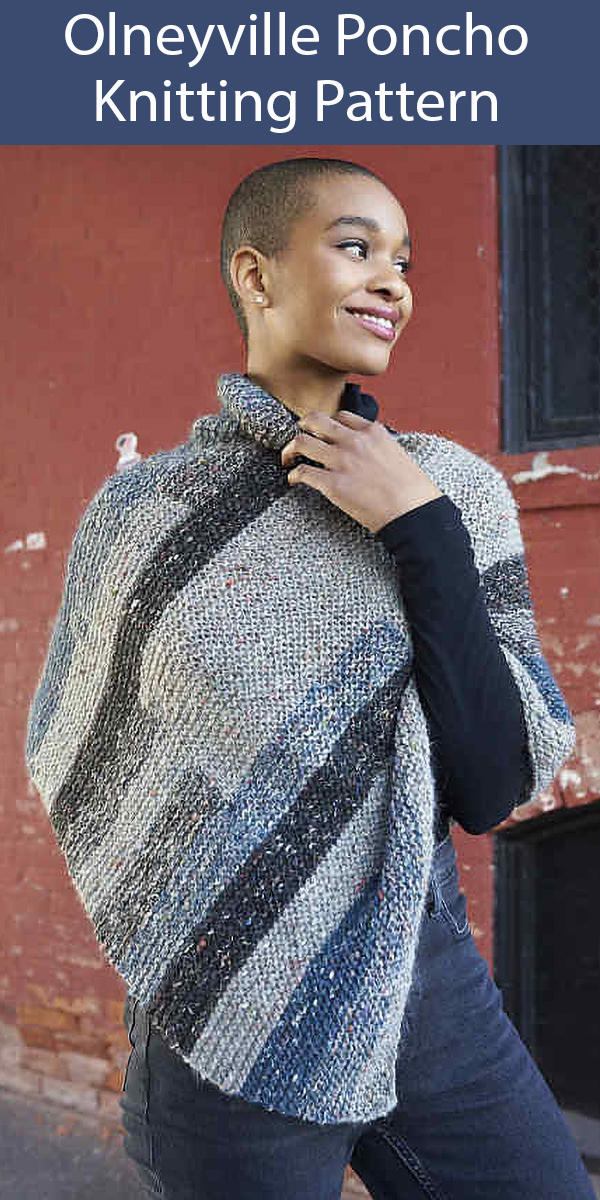 Knitting Pattern for Olneyville Poncho