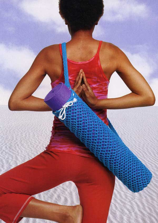 Free knitting pattern for Om Yoga Mat Bag
