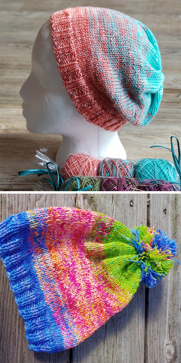 Free Knitting Pattern for Ombre Party Hat
