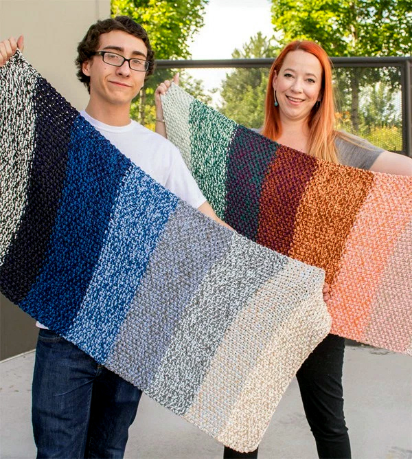 Free Knitting Pattern for Ombre Tapis