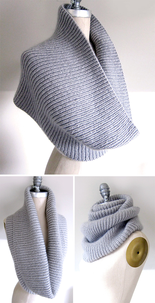 Free Knitting Pattern for Easy On the C Train Cowl