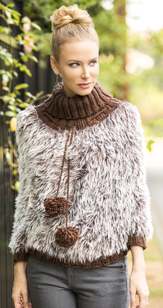 Free Knitting Pattern for On the Prowl Poncho