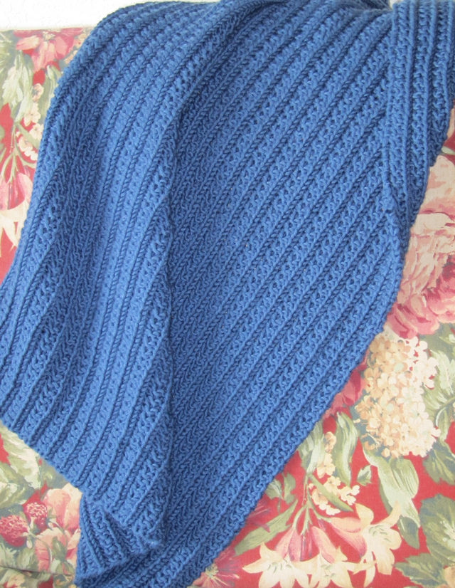 Free Knitting Pattern for One Row Repeat Blanket