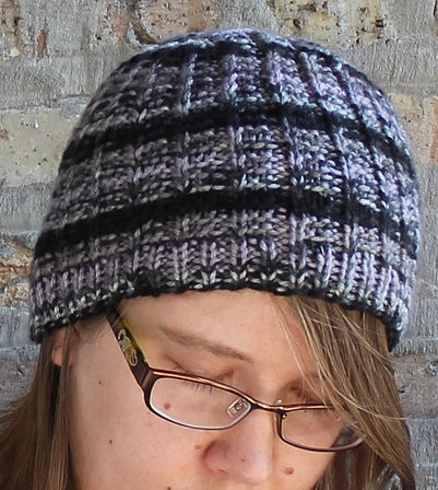 Free Knitting Pattern for One Row Repeat Hat