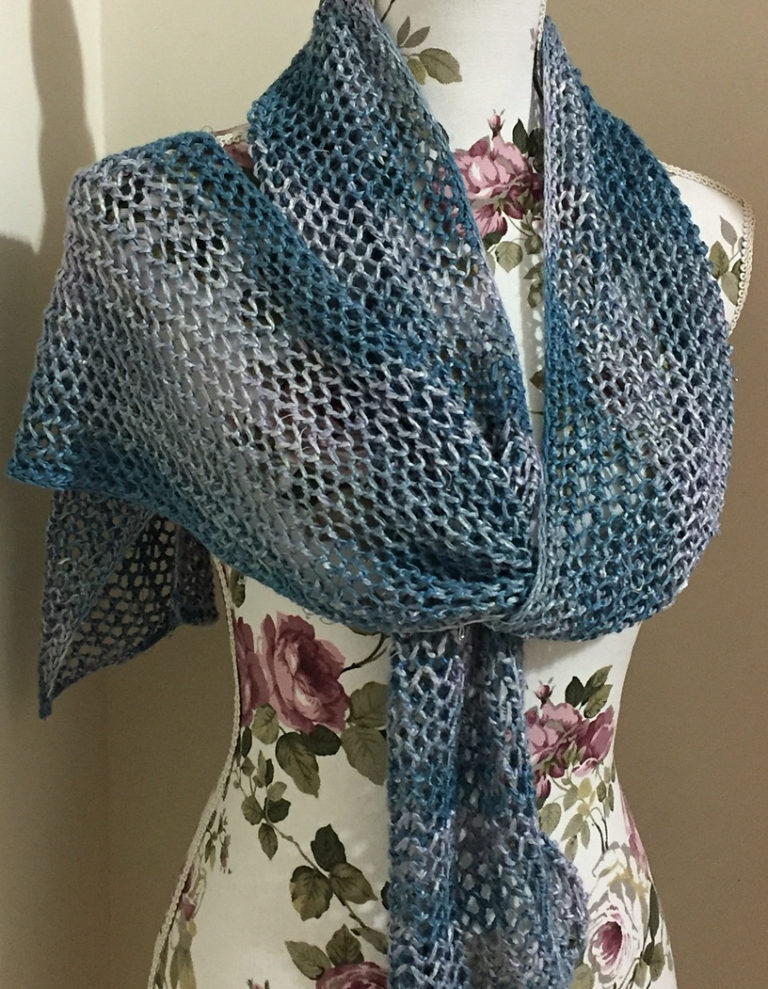 Free Knitting Pattern for One Row Repeat Lace Scarf