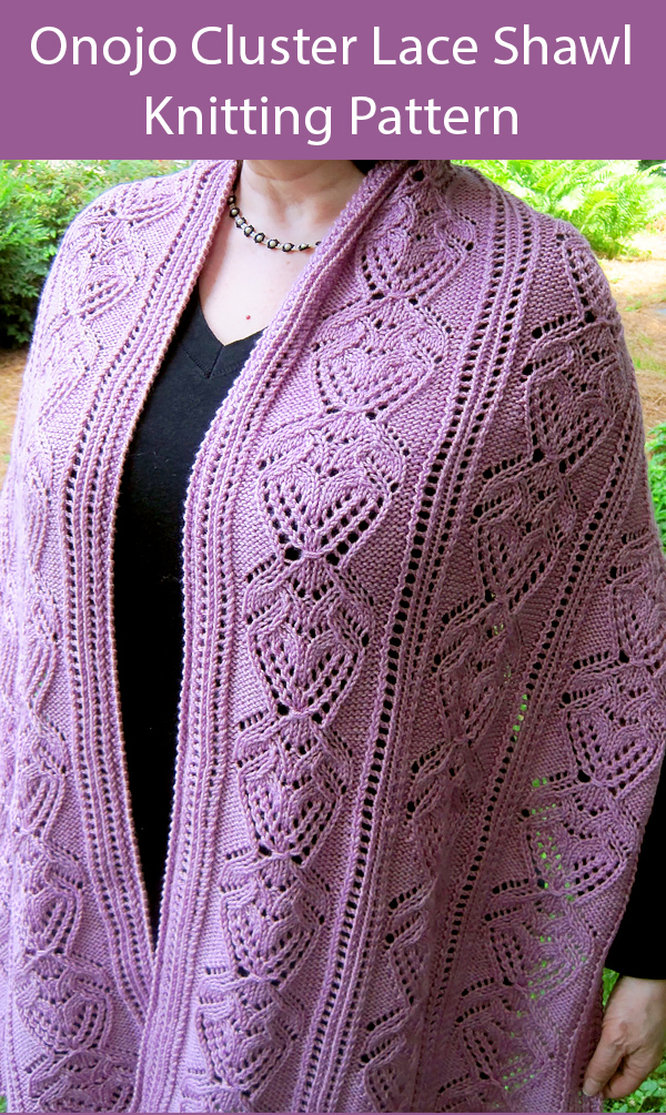 Knitting Pattern for Easy Onojo Cluster Lace Shawl