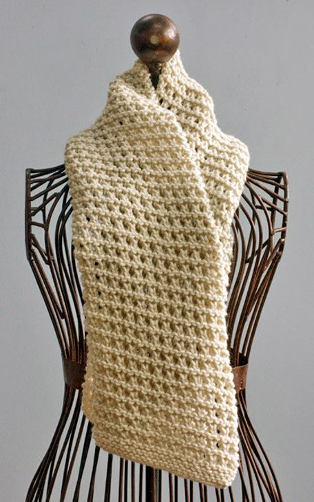 Knitting Pattern Easy Openwork Scarf