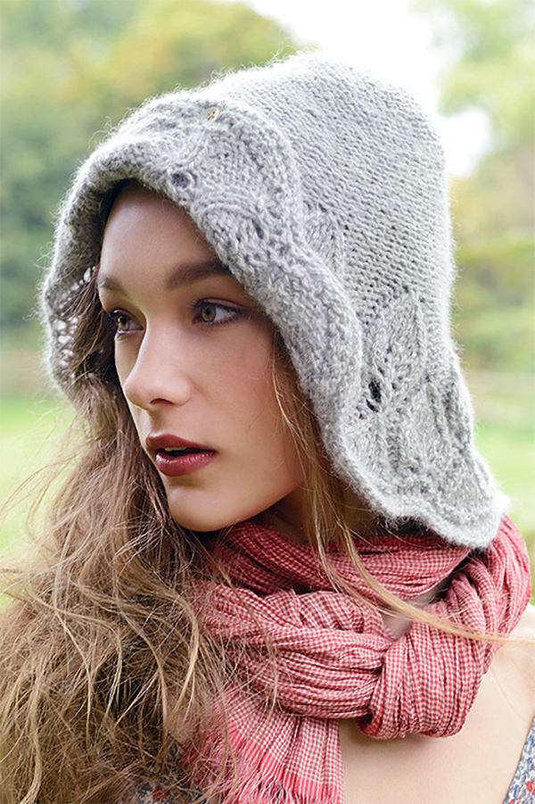 Knitting Pattern for Ophira Hood Hat