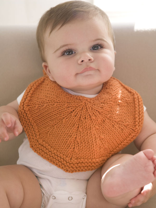 Free Knitting Pattern for Orangelo Bib