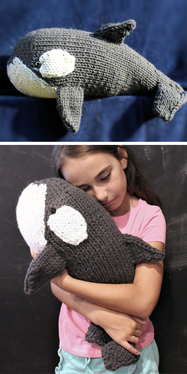 Knitting Pattern for Orca Whale Toy