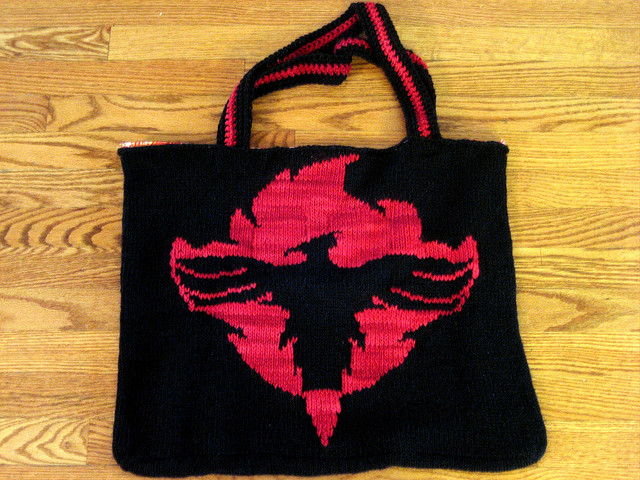 Order of the Phoenix Bag Free Knitting Pattern