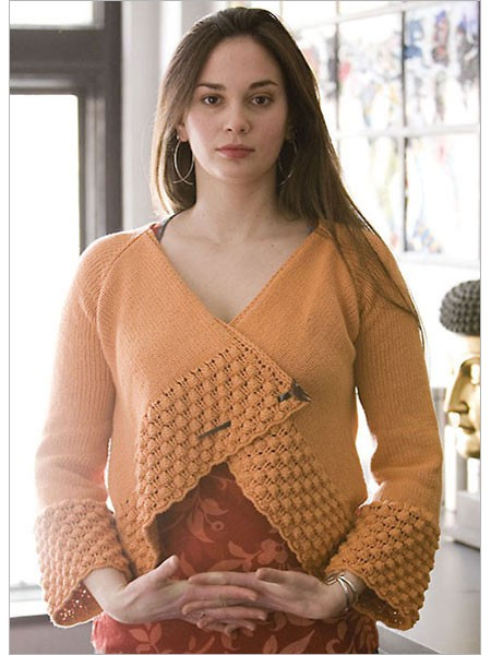 Knitting pattern for Origami Cardi