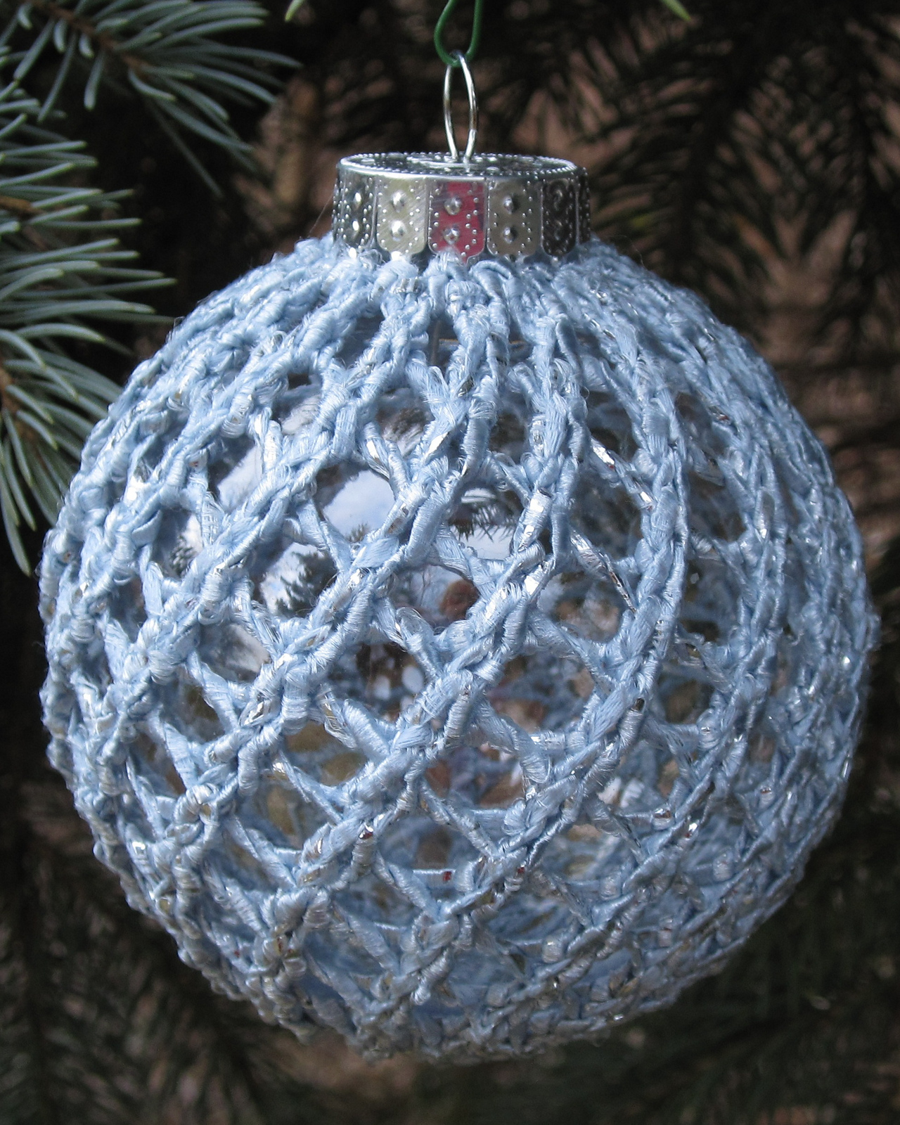 Free Knitting Pattern for Easy Ornament Cover