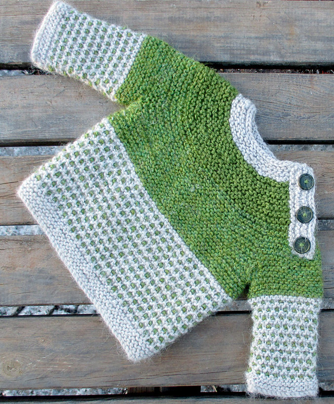 Free Knitting Pattern for Oslo Baby Sweater