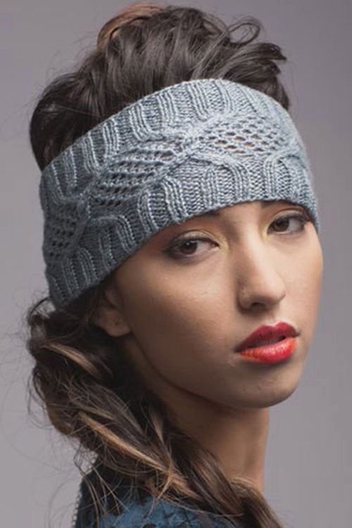 Knitting Pattern for Ostia Ear Warmer and Hat