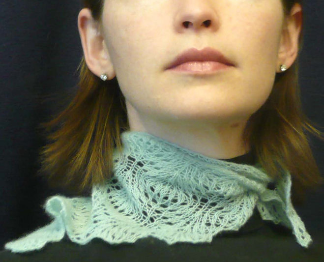 Free Knitting Pattern for Ostrich Feather Kerchief