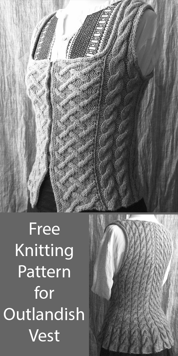 Free Knitting Pattern for Outlandish Vest in 4 Sizes
