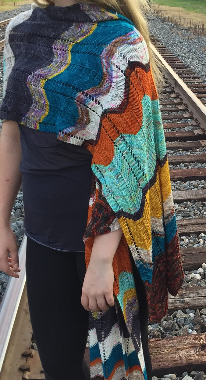 Free Knitting Pattern for Easy Outline Shawl