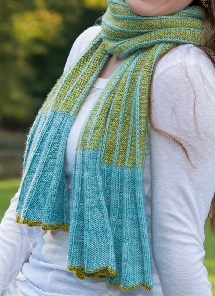Knitting Pattern for Outside In Scarf