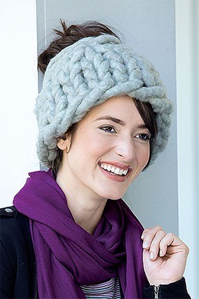 Free Knitting Pattern for Jumbo Messy Bun Hat