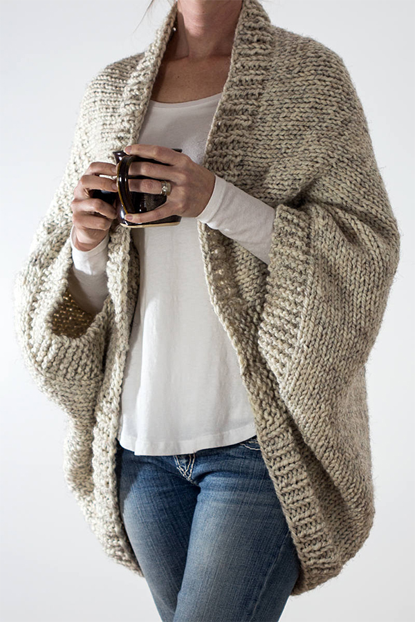 Knitting Pattern for Easy 18 Hour Cardigan