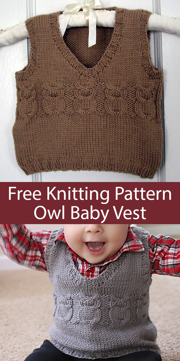 Vests for Babies and Children Knitting Patterns - In the ...