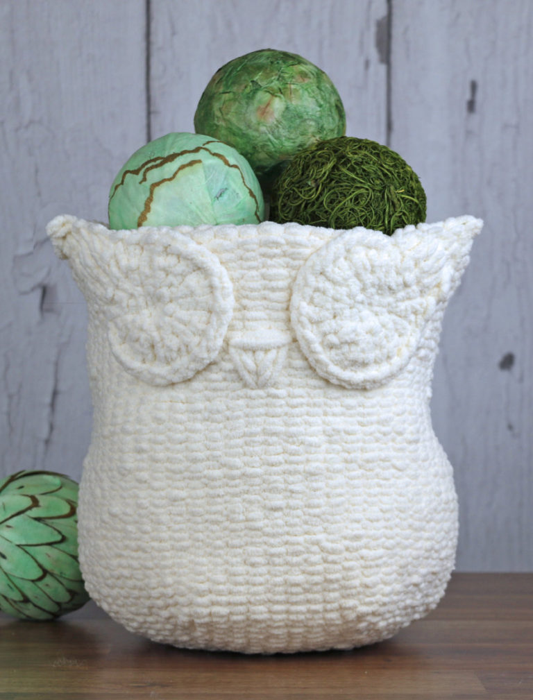 Knitting Pattern for Owl Basket