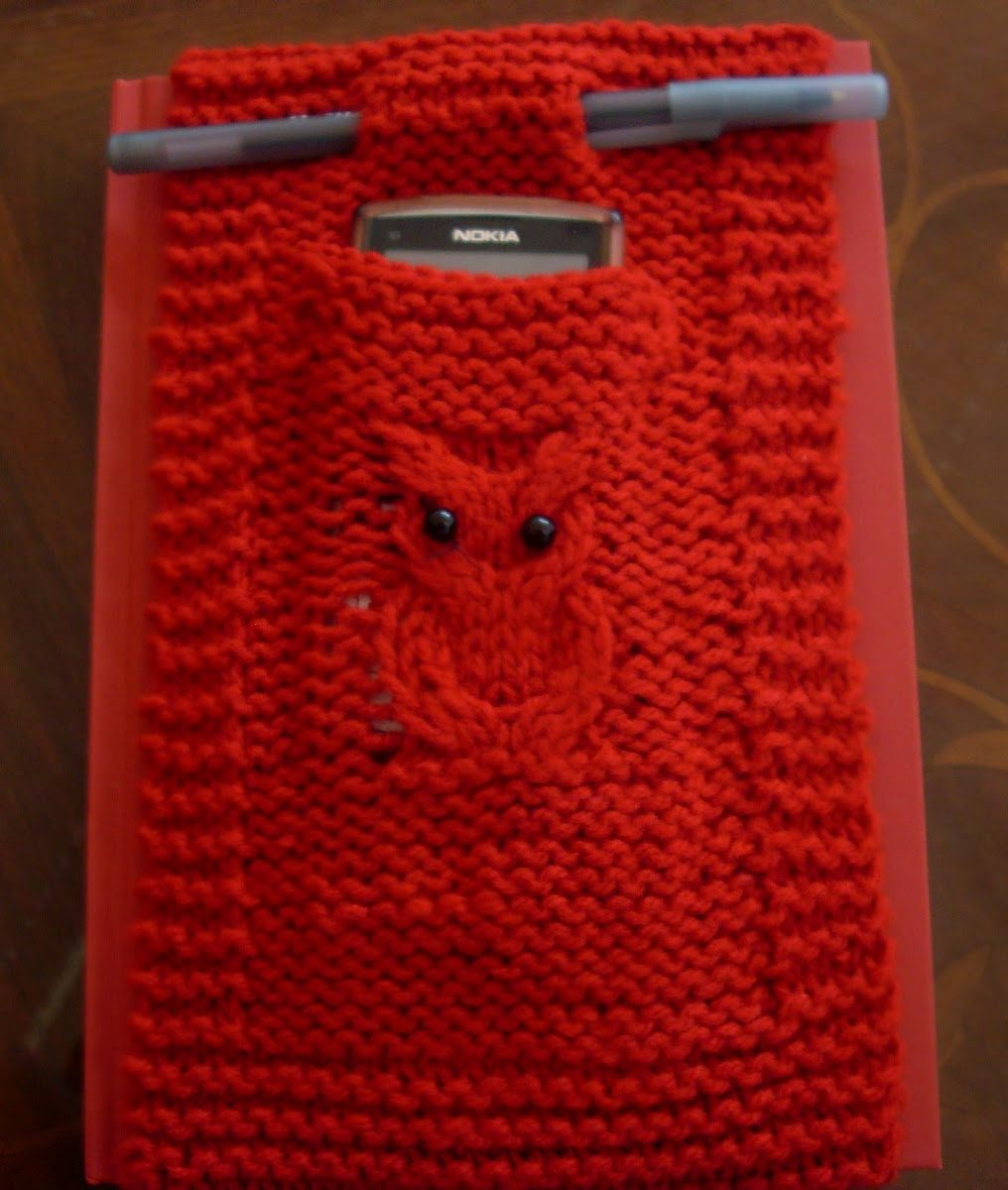 Free Knitting Pattern for Grab and Go Diary Cover
