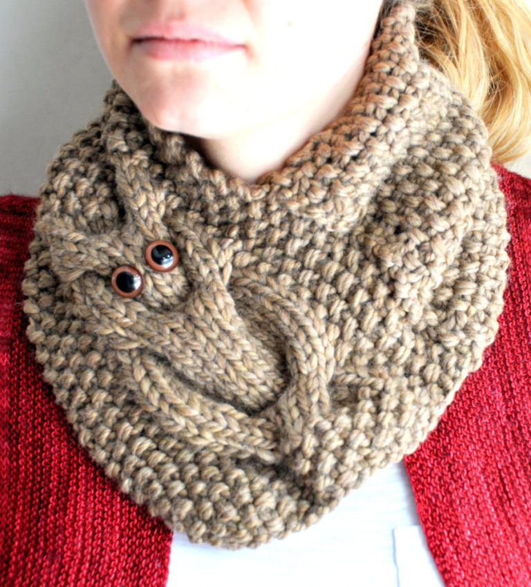 Knitting Pattern for Owl Cowl