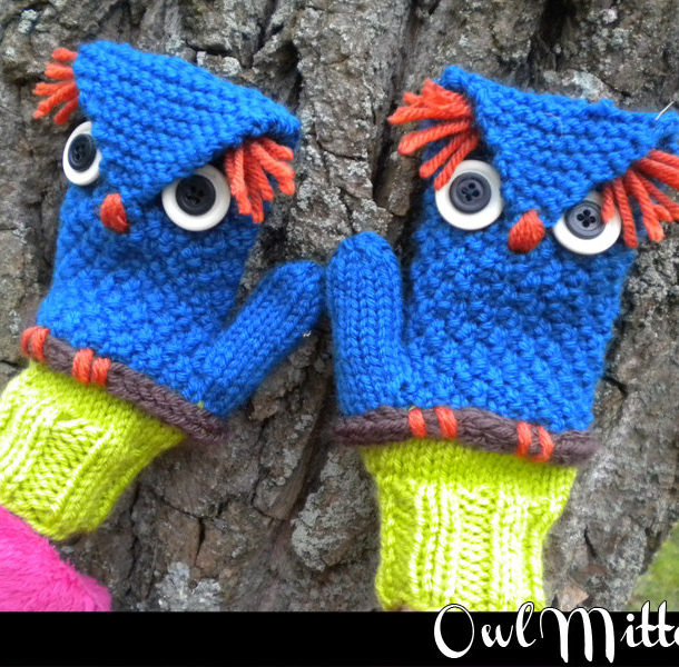 Knitting Pattern for Owl Mittens
