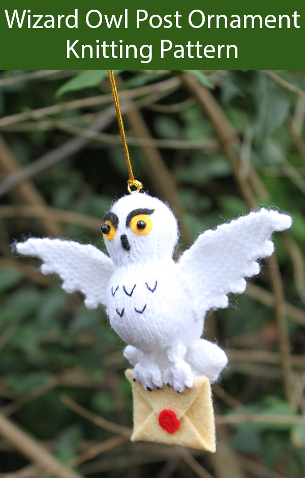 Knitting Pattern for Harry Potter Inspired Owl Post Ornament