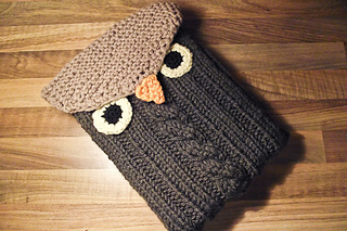 Owl Tablet Sleeve Free Pattern