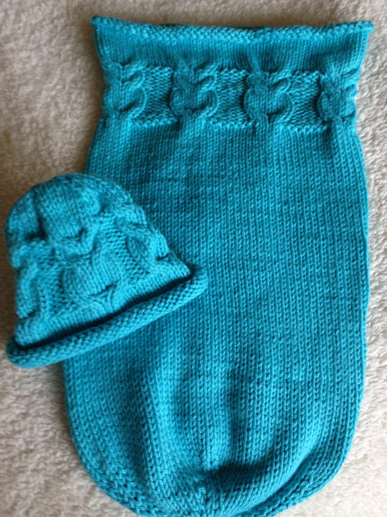 Free Knitting Pattern for Owlie Sleep Sack and Hat