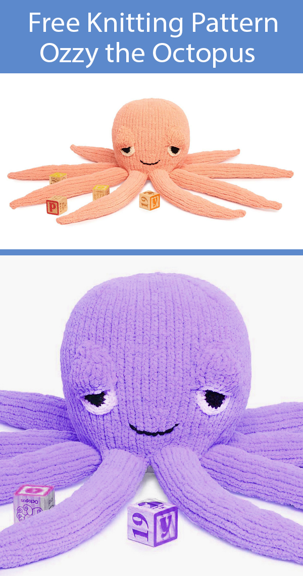 Free Knitting Pattern Ozzy the Octopus Toy