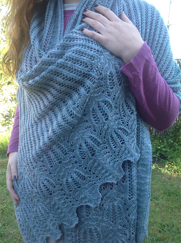 Knitting Pattern for Pachelbel Shawl