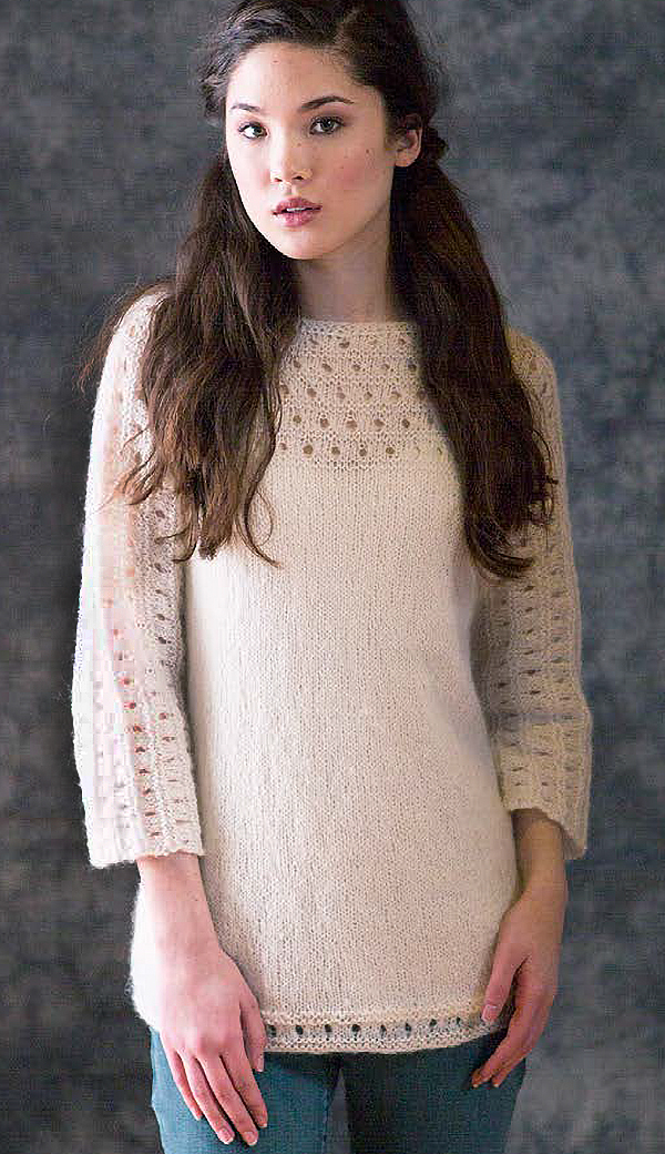 Free Knitting Pattern for Pacific Pullover