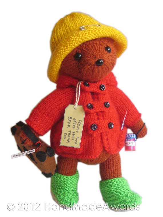 Paddington Bear Knitting Pattern | Favorite Bear Knitting Patterns including Teddy Bears, Paddington Bear, Koala Bear - many free patterns