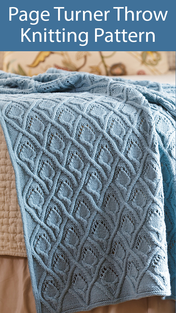 Knitting Pattern for Page Turner Throw Blanket