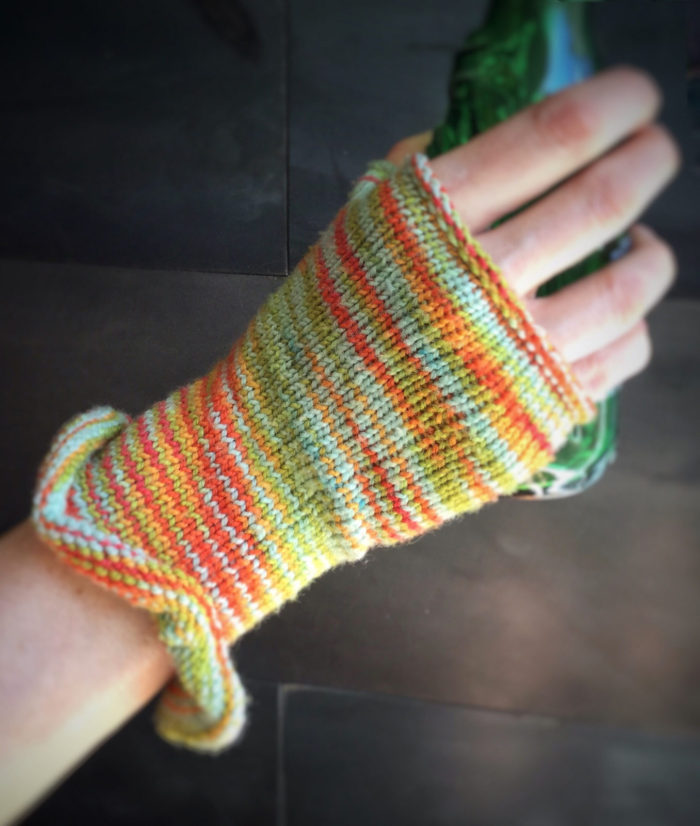 Free Knitting Pattern for Pagliaccio Fingerless Gloves