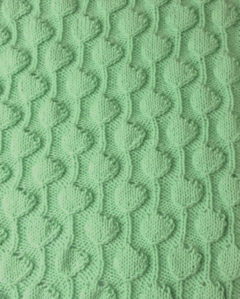 Free Knitting Pattern for Palm Tree Puff Baby Blanket
