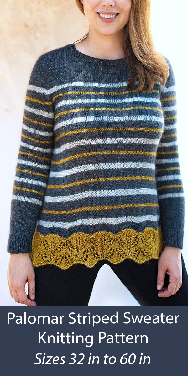 Sweater Knitting Pattern Palomar Striped Pullover Sweater